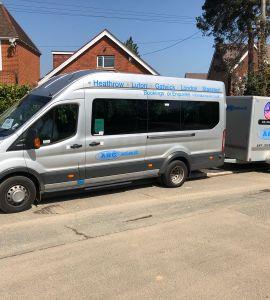 minibus with trailer