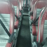 BU66ABC inside red leather seats close up